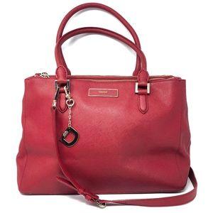 DKNY Saffiano Leather Satchel Crossbody Bag